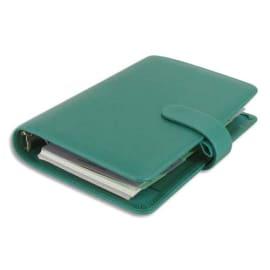 FILOFAX Agenda Safiano Personal, 1S/2P - Format : 9,1 x 17,1 cm Bleu turquoise fermeture à pression photo du produit