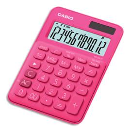 CASIO Calculatrice de bureau 12 chiffres Rouge/Rose (Fuchsia) MS-20UC-RD-S-EC photo du produit