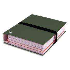 OXFORD Chemise extensible COLOR LIFE papier toilé. Fermeture par sangle VELCRO® Noire. Coloris Vert foncé photo du produit