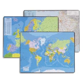 ESSELTE Sous mains carte du PLANISPHERE, dimensions 53x40 cm photo du produit