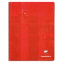 CLAIREFONTAINE Cahier reliure brochure 17x22 cm 192 pages petits carreaux 5x5 papier 90g photo du produit