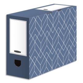BANKERS BOX Boîte archives dos de 10 cm HEAVY DUTY DESIGN. Montage manuel. Coloris bleu photo du produit
