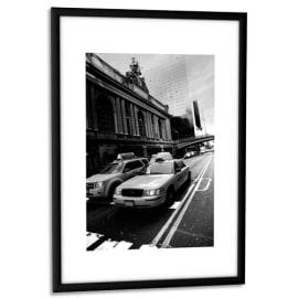 PAPERFLOW Cadre photo contour aluminium coloris Noir, plaque en plexiglas. Format 21 x 30 cm photo du produit