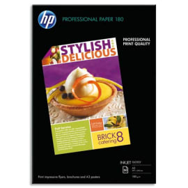 HP Pack de 50 Papier photo professionnel Jet d'encre brillant 180g A3 C6821A photo du produit