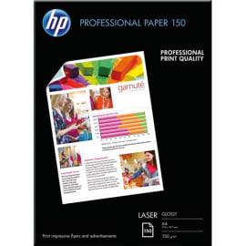 HP Pack de 150 Papier photo professionnel Laser brillant 150g A4 CG965A photo du produit