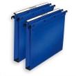 OBLIQUE AZ Paquet de 10 dossiers suspendus TIROIR en polypro opaque 5/10e. Fond 15, bouton-pression. Bleu photo du produit