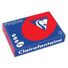 CLAIREFONTAINE Ramette de 250 feuilles papier couleur TROPHEE 160 grammes format A4 Rouge corail 1004 photo du produit