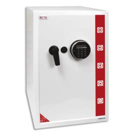 RESKAL Coffre de sécurité SE4 Premium 78 litres Blanc, serrure électronique - Dim : L39 x H60,5 x P41 cm photo du produit
