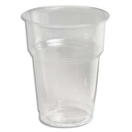 HUHTAMAKI Sachet de 50 gobelets cristal 20 cl en plastique PS - Hauteur 10 cm Diamètre 7,2 cm photo du produit