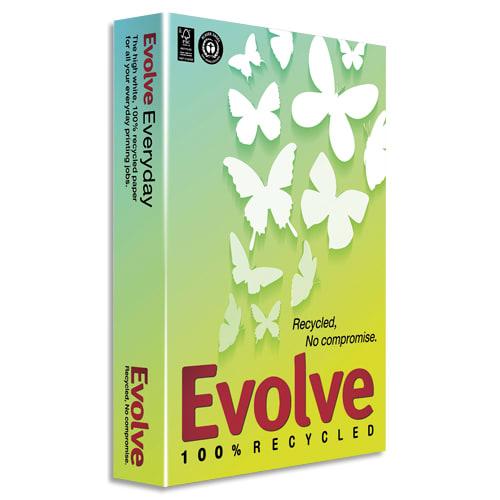 EVOLVE Ramette 500 feuilles papier Blanc EVOLVE Everyday 100% recyclé A4 80G CIE 150 photo du produit Principale L