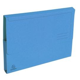 EXACOMPTA Paquet 50 chemises à poche FOREVER en carte recyclée 290g. Coloris Bleu vif photo du produit