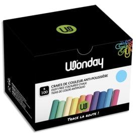 JPC Boîte de 100 craies anti-poussière coloris Bleu photo du produit