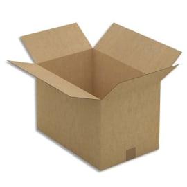 Paquet de 25 caisses américaines simple cannelure en kraft brun - Dimensions : 45 x 30 x 30 cm photo du produit
