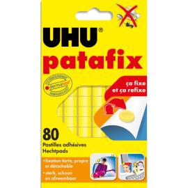 UHU Etui de 6 bandes prédécoupées de 80 pastilles Patafix Jaune photo du produit