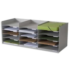 PAPERFLOW Bloc classeur 3 x 5 cases Gris pour doc 24x32 cm, capacité 500 feuilles L85,7 x H32,3 x P33 cm photo du produit