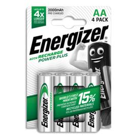ENERGIZER Blister de 4 piles AA LR6 Power plus recheargeable 2000 mAh 7638900417012 photo du produit