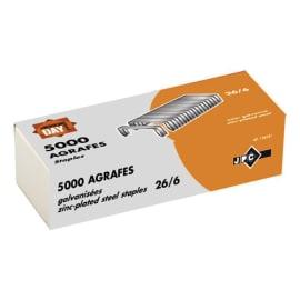 WONDAY Boîte 5000 agrafes 26/6 galvanisé photo du produit