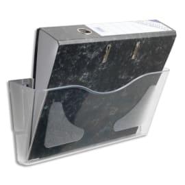 DEFLECTO Corbeille murale paysage A4 transparente photo du produit