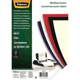 FELLOWES Boîte de 100 plats de couvertures grain cuir A4 Ivoire FSC 5370004 photo du produit