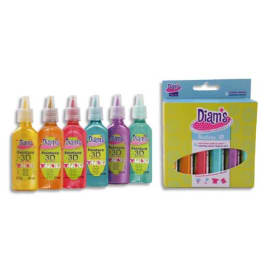 DIAMS Set de 6 flacons 20ml Diams 3D Mini Total Fashion - couleurs assorties photo du produit