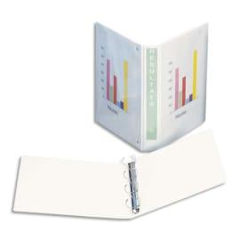 ESSELTE Classeur à couverture personnalisable sur trois faces en PVC Blanc – dos de 5 cm photo du produit