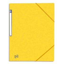 OXFORD Chemise simple à élastique TOP FILE, en carte lustrée 5/10e, 390g. Etiquette sur la tranche. Jaune photo du produit