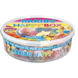 HARIBO Boïte de 600g Happy Box assortiment de bonbons photo du produit
