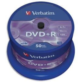 VERBATIM tour de 50 DVD+R 16x 43550 photo du produit