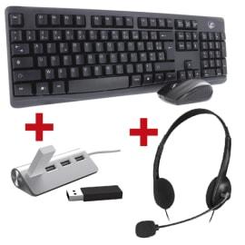 MOBILITY LAB Lot composé d'un hub + un clavier / souris + un casque photo du produit