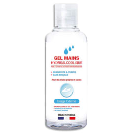 1ER Flacon 100 ml gel hydro-alcoolique désinfectant pour les mains photo du produit