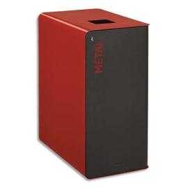ROSSIGNOL Borne de tri Cubatri 65 Litres avec serrure en acier poudré Gris Rouge L38 x H76 x P62 cm photo du produit