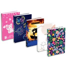 Agenda septembre à septembre 1J/P, 320 pages, couverture brochée - Format : 12 x 18 cm. 5 visuels ados photo du produit