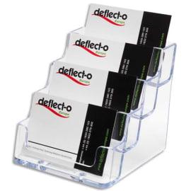DEFLECTO Porte cartes visite 1x4 compartiment transparent 9.8X8.9X10.5cm photo du produit