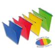 OBLIQUE AZ Paquet de 10 dossiers suspendus TIROIR en polypro opaque 5/10e.Fond 30, bouton-pression. Rouge photo du produit