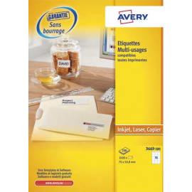 AVERY Boîte de 1500 étiquettes Blanches multi usages 70 x 50,8 mm 3669-100 photo du produit