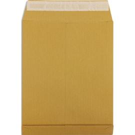 PERGAMY Boîte de 200 pochettes kraft Brun recyclé 120g, 3 soufflets de 3 cm, 24 : 260x330mm. Auto-adhésiv photo du produit