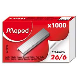 MAPED Boîte de 1000 agrafes 26/6 324605-8 photo du produit