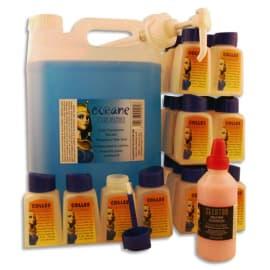 CLEOPATRE Lot 5 litres colle marine océane + 24 flacons vides + pompe + cleotoo 100ml offert photo du produit