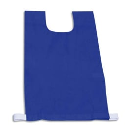 FIRST LOISIRS Lot de 12 chasubles simples 60 x 35 cm, coloris : Bleu photo du produit