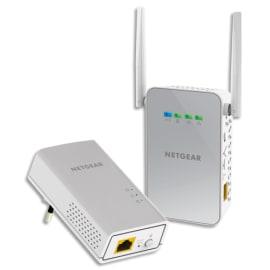 NETGEAR Pack 2 boitiers CPL spécial WiFi 1000Mbit/sPLW1000-100PES photo du produit