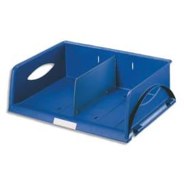 LEITZ Corbeille Sorty format paysage A4 Maxi - Bleu - L 40,5 x H 12,5 x P 30 cm photo du produit