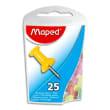 MAPED Boîte de 25 punaises mémo 10mm coloris assortis photo du produit