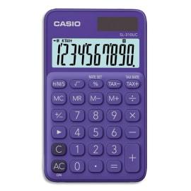 CASIO Calculatrice de poche 10 chiffres Violette SL-310UC-PL-S-EC photo du produit