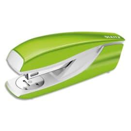LEITZ Agrafeuse métal Vert anis métalisé capacité 30 feuilles pour agrafes 24/6-26/6. Livrée en Boîte photo du produit