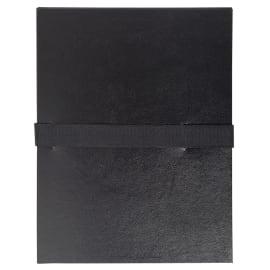 EXACOMPTA Chemise extensible en balacron. Rabat en pied, fermeture par sangle velcro. Coloris Noir photo du produit