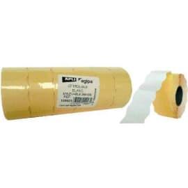 AGIPA Pack 6 rouleaux 1000 étiquettes Blanches sinusoïdales enlevables 26X16mm pour pinces 151992-101419 photo du produit