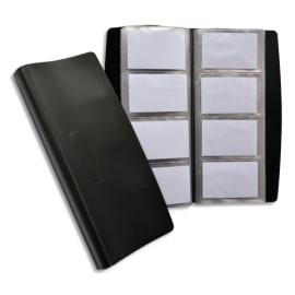 OXFORD Porte-cartes de visite tout terrain en PVC indéchirable. Capacité 240 cartes. Format 9x5,5cm. Noir photo du produit
