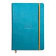 RHODIA Carnet RHODIArama 14,8x21cm 192 pages lignées. Couverture rembordée Turquoise photo du produit