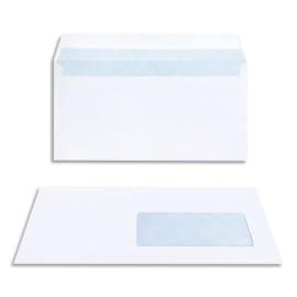 BONG Boîte de 200 enveloppes DL 110x220mm fenetre 45x100mm Blanc 80g auto-adhésive 23039 photo du produit