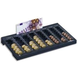 DURABLE Planche de comptage Euroboard L - 8 compart pièces+1 rangemt billets - L324 x H34 x P190 mm photo du produit